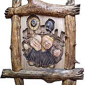 """Картины ручной работы. Ярмарка Мастеров - ручная работа Картина """"Веселая парочка"""". Handmade."""