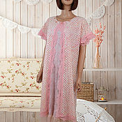 Одежда handmade. Livemaster - original item Two-layer light boho dress for summer