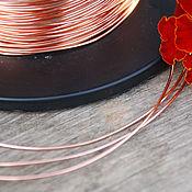 Материалы для творчества handmade. Livemaster - original item 0,8 mm copper wire. Handmade.