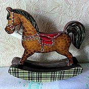 Куклы и игрушки ручной работы. Ярмарка Мастеров - ручная работа лошадка-качалка. Handmade.