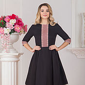 Одежда handmade. Livemaster - original item Dress linen Pure field MIDI Makosh in Russian style. Handmade.