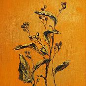 Картины и панно ручной работы. Ярмарка Мастеров - ручная работа Сибирская флора, серия картин. Handmade.