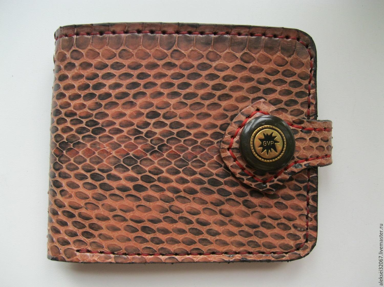 Men's leather wallet, snake leather, Wallets, Smolensk,  Фото №1