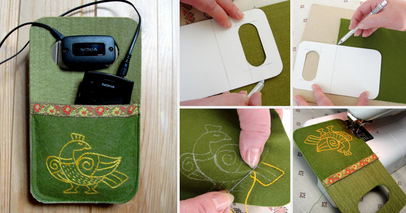 Кармашек для зарядки телефона своими руками