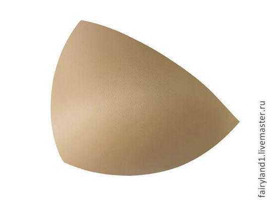 чашки корсетные трёхугольной формы, бежевые, размер 75В