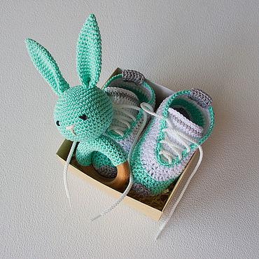 Товары для малышей ручной работы. Ярмарка Мастеров - ручная работа Подарочный комплект новорожденному, подарок на рождение малыша. Handmade.