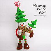 handmade. Livemaster - original item Amigurumi snowman pattern. Crochet snowmen and Christmas tree. Handmade.