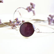 Украшения handmade. Livemaster - original item Resin bracelet with Real Burgundy Rose Petal Eco boho Style. Handmade.