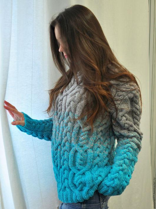 """Кофты и свитера ручной работы. Ярмарка Мастеров - ручная работа. Купить Свитер женский """"Бриз"""". Handmade. Комбинированный, свитер"""