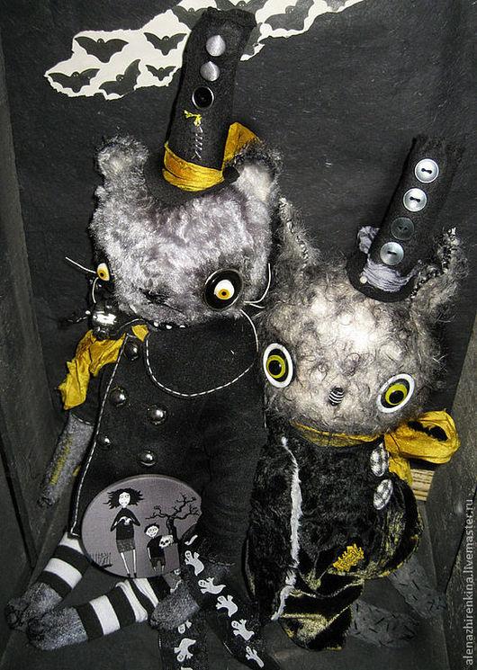 Мишки Тедди ручной работы. Ярмарка Мастеров - ручная работа. Купить BATCAT. Handmade. Серый, хеллоуин, Алёна Жиренкина, шёлк