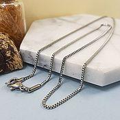 Материалы для творчества handmade. Livemaster - original item Chain with lock ready 45 cm steel (4554). Handmade.