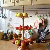 Для дома и интерьера ручной работы. Ярмарка Мастеров - ручная работа Фруктовница, Горка,  для фруктов из меди и латуни. Handmade.