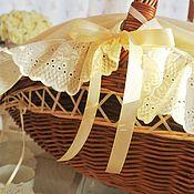 Подарки к праздникам handmade. Livemaster - original item Wicker basket for discharge of the newborn champagne. Handmade.