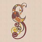 Материалы для творчества handmade. Livemaster - original item Bird embroidery design pattern satin stitch hoop size 13 x 18 cm  pes. Handmade.