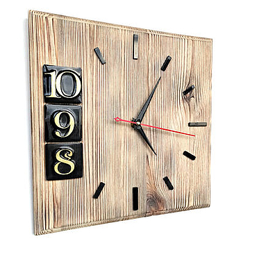 Для дома и интерьера ручной работы. Ярмарка Мастеров - ручная работа Деревянные часы Стиль квадратные лофт. Handmade.
