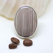 handmade. Livemaster - original item Ring petrified wood