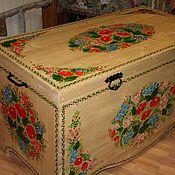 Для дома и интерьера ручной работы. Ярмарка Мастеров - ручная работа Сундук расписной. Handmade.