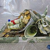 """Подарки к праздникам ручной работы. Ярмарка Мастеров - ручная работа Рог изобилия """"Доллары"""".. Handmade."""