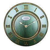 Для дома и интерьера handmade. Livemaster - original item A wall clock. Green beech. Old gold. Time.. Handmade.