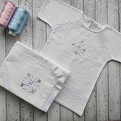 Работы для детей, handmade. Livemaster - original item Baptismal set warm
