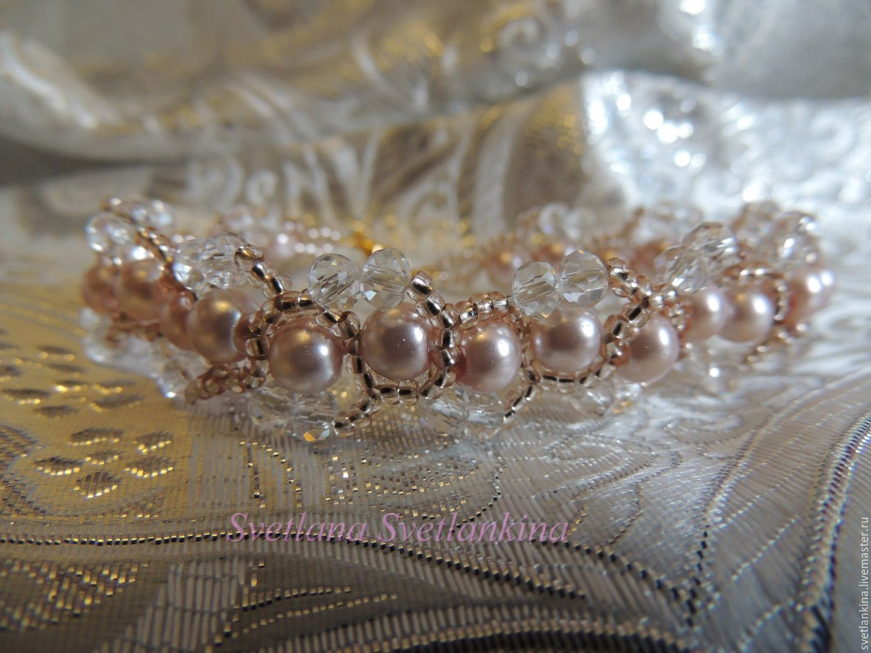 Bracelet pink pearls