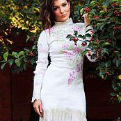Одежда ручной работы. Ярмарка Мастеров - ручная работа Сакура платье нуновойлочное. Handmade.