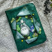 Канцелярские товары handmade. Livemaster - original item Notebook with Totoro. Handmade.