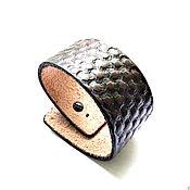 Украшения handmade. Livemaster - original item Men`s embossed leather bracelet. Handmade.