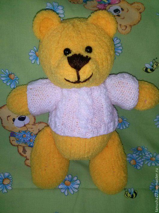 Мишки Тедди ручной работы. Ярмарка Мастеров - ручная работа. Купить Мишка-обнимашка. Handmade. Желтый, медвежонок игрушка