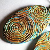 """Украшения ручной работы. Ярмарка Мастеров - ручная работа серьги из полимерной глины """" за осенним дождем"""". Handmade."""