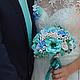 Свадебные цветы ручной работы. Букет невесты, свадебный букет Бирюзовый из полимерной глины decoclay. Неменова Юлия&Radugaflowers. Интернет-магазин Ярмарка Мастеров.