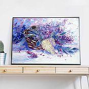 Картины и панно handmade. Livemaster - original item Picture of lilac oil