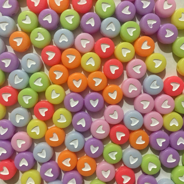 Акриловые бусины с сердечками, Бусины, Зеленоград,  Фото №1