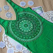 Одежда ручной работы. Ярмарка Мастеров - ручная работа Маечка с мандалой. Handmade.
