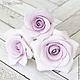Заколки ручной работы. Заказать Набор шпилек с розами - Сиреневые (4 шт). Tanya Flower. Ярмарка Мастеров. Украшение для волос