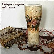 """Для дома и интерьера ручной работы. Ярмарка Мастеров - ручная работа Ваза """"Винтажные Розы"""". Handmade."""