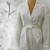Одежда ручной работы. Ярмарка Мастеров - ручная работа Белый плащ. Handmade.