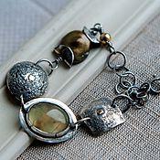 Украшения ручной работы. Ярмарка Мастеров - ручная работа Браслет серебро браслет женский из натуральных камней серебряный. Handmade.