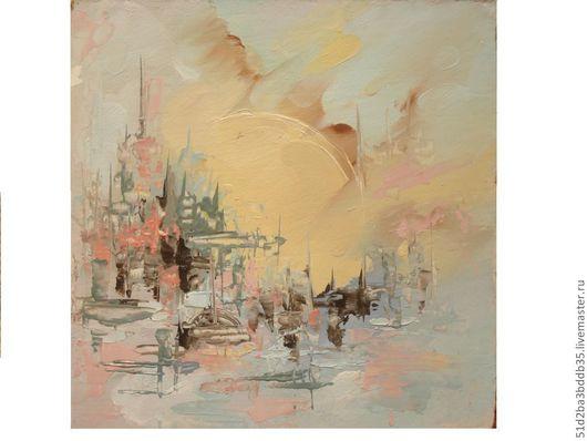 Абстракция ручной работы. Ярмарка Мастеров - ручная работа. Купить город. Handmade. Картина, картина в подарок, картина для интерьера