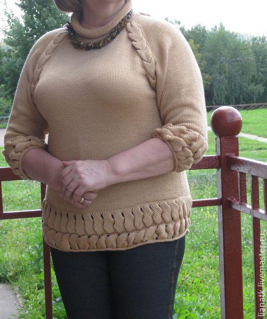 Кофты и свитера ручной работы. Ярмарка Мастеров - ручная работа. Купить Туника Лора. Handmade. Оранжевый, туника, туника вязаная