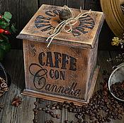 """Для дома и интерьера ручной работы. Ярмарка Мастеров - ручная работа """"Кофе со специями"""" Короб  /массив кедра/. Handmade."""