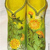 """Обувь ручной работы. Ярмарка Мастеров - ручная работа Валенки """"Венок из одуванчиков"""". Handmade."""