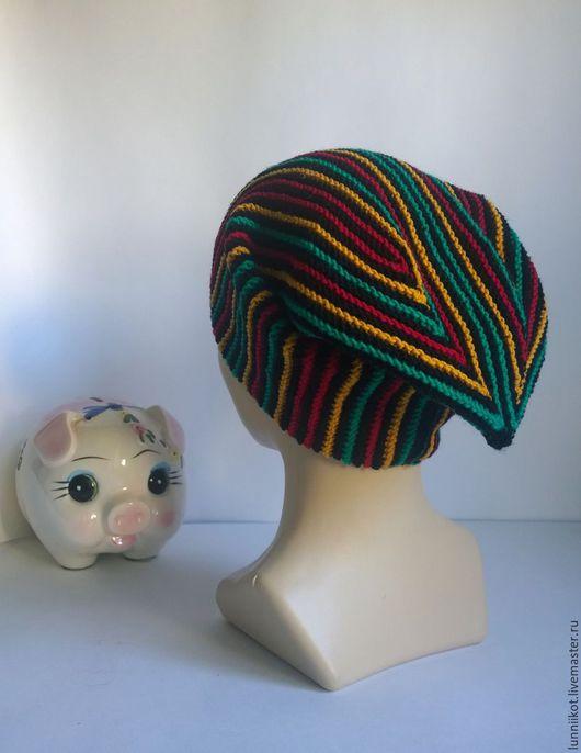 Шапки ручной работы. Ярмарка Мастеров - ручная работа. Купить Шапка Rasta ski hat. Handmade. Комбинированный, веселая шапка