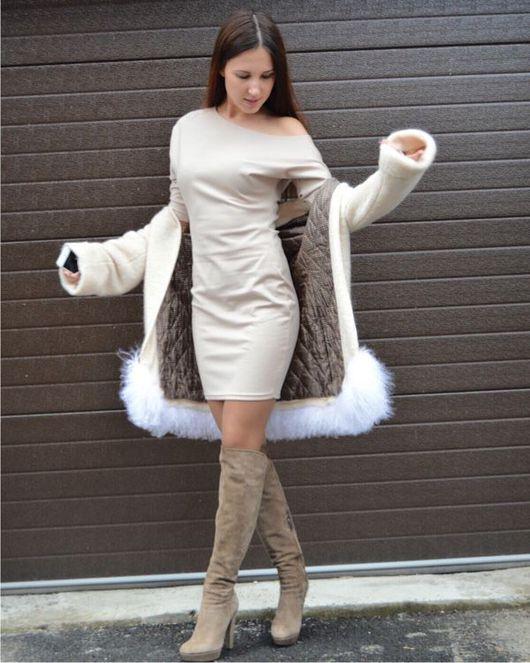 Платья ручной работы. Ярмарка Мастеров - ручная работа. Купить Платье на одно плечо из итальянского джерси. Handmade. Платье повседневное