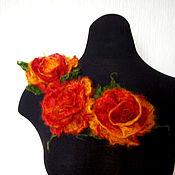 """Украшения ручной работы. Ярмарка Мастеров - ручная работа Броши """"Пушистая роза"""" Феникс. Handmade."""