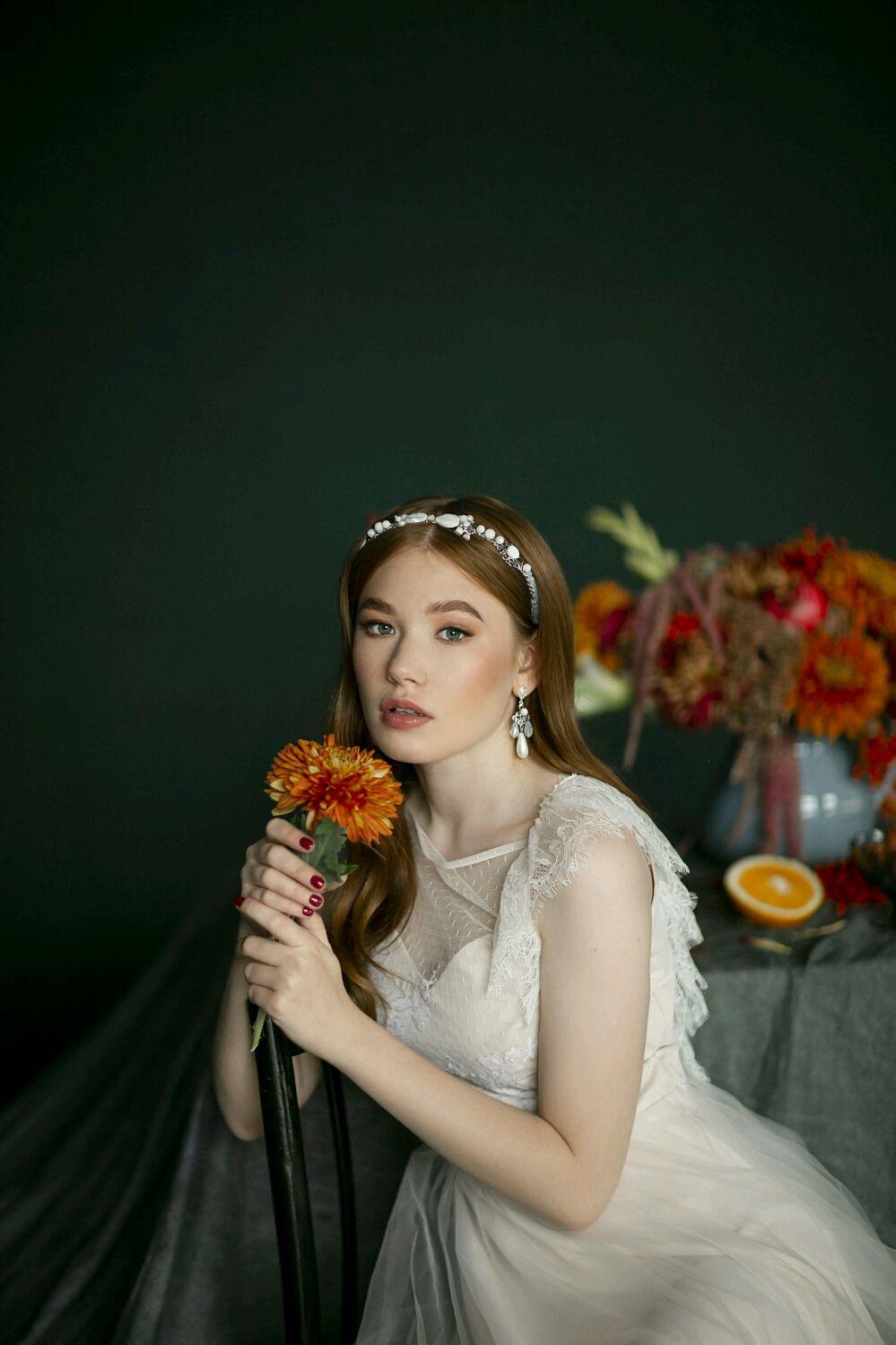 Свадебный ободок из натурального перламутра, Украшения, Краснодар, Фото №1