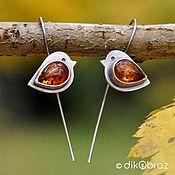 Украшения handmade. Livemaster - original item Earrings silver amber Zaryanka. Handmade.