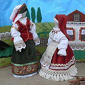 Куклы и игрушки ручной работы. Ярмарка Мастеров - ручная работа куклы в русских костюмах Сударушки. Handmade.