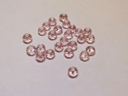 Для украшений ручной работы. Ярмарка Мастеров - ручная работа. Купить Бусины рондель розовые 4 мм (10шт). Handmade.