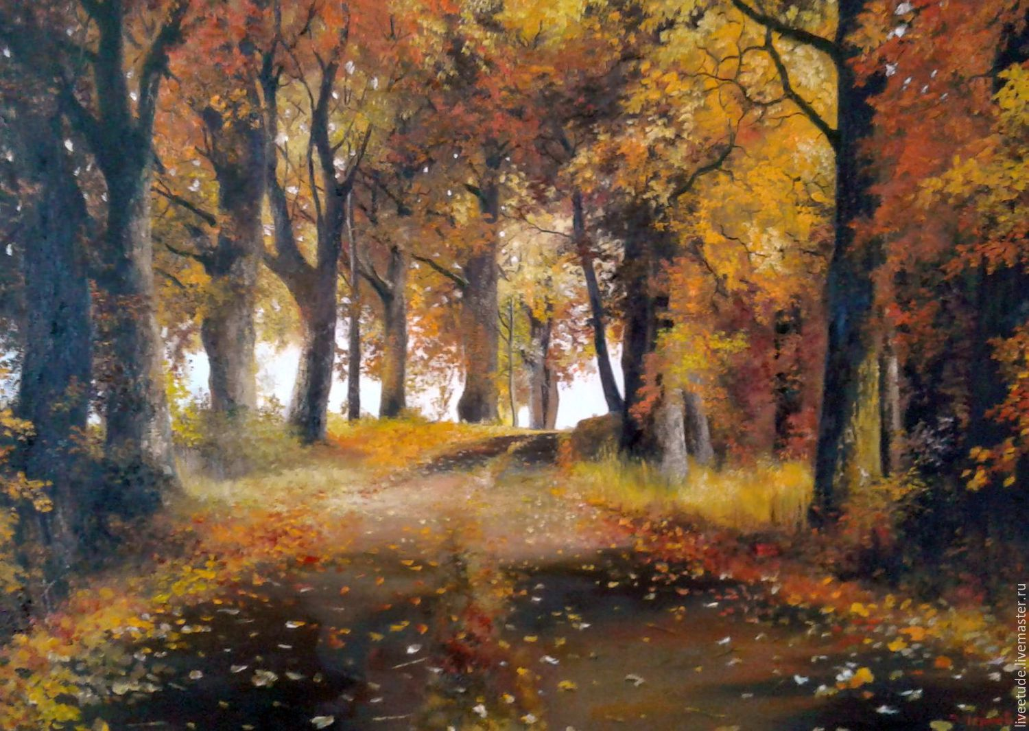 Fair Masters Oil Painting Landscape Autumn For Interior Art